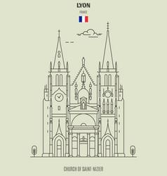 church of saint-nizier in lyon vector image