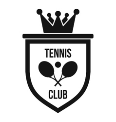Coat of arms of tennis club icon simple style vector image