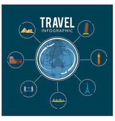 Colourful travel travel and tourism background vector