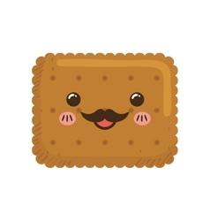 Cookie kawaii dessert cute sweet food icon vector