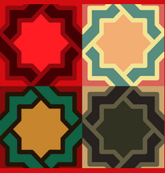 Decorative pattern different color option vector