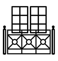 double balcony icon simple style vector image