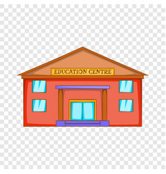 Education centre building icon cartoon style vector