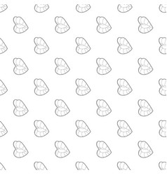 erotic open mouth icon outline style vector image