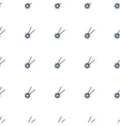 falling star icon pattern seamless white vector image