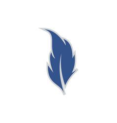 feather abstract design icon logo vector image
