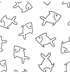 fish sign icon seamless pattern background vector image