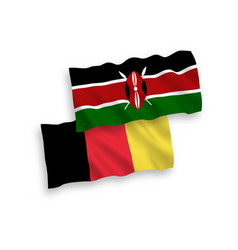 Flags belgium and kenya on a white background vector