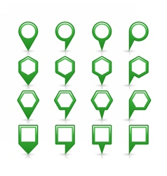 Flat green color map pin sign location icon vector image