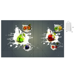 fruit bag packaging vector image