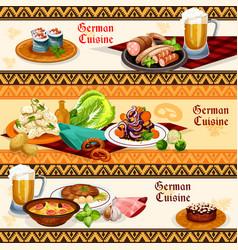 german cuisine restaurant or pub menu banner set vector image
