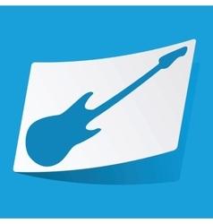 Guitar sticker vector
