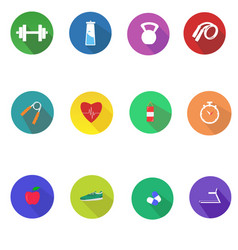 Gym-icons vector