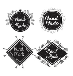 hand made labels monochrome icon vector image