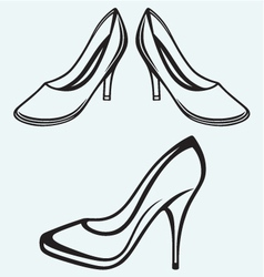 High heel shoes vector