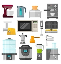 Home electronics appliances elements infographics vector image