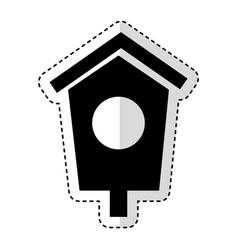 house wooden bird icon vector image