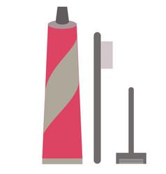 Hygiene kit flat on white vector