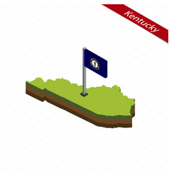 Kentucky isometric map and flag vector