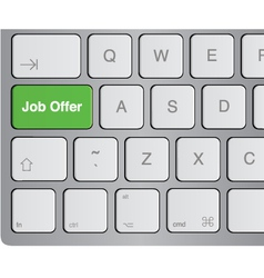 Keyboard - job offer vector