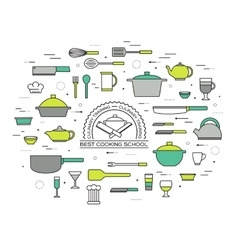 Kitchen table for cooking in house vector