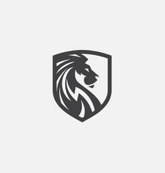 Lion shield logo icon head logo vector