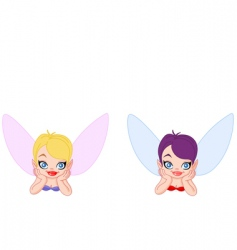 lying fairy vector image