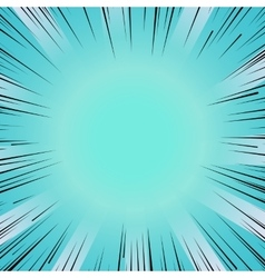 Manga comic book flash blue explosion radial lines vector image