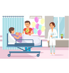 maternity ward flat vector image