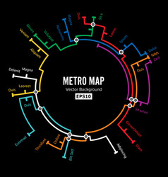 Metro map imaginary underground map vector