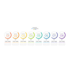 minimal infographic timeline template vector image