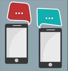 mobile phone communication abstract background vector image