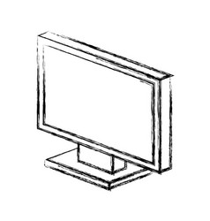 Monitor computer isolated icon vector