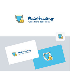 protected logotype with business card template vector image