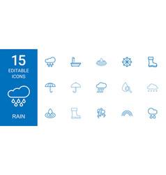 rain icons vector image