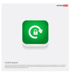 refresh icon green web button vector image