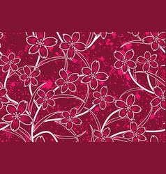 seamless pattern with floral tropical batik vector image