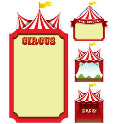 set circus template vector image