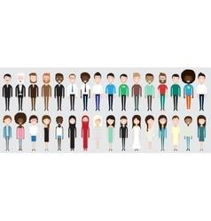 set diverse business people vector image