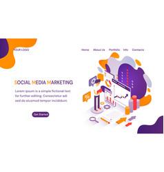 smm - social media marketing website template vector image