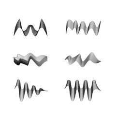 Sound wave design vector