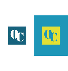 square letter oc logo vector image