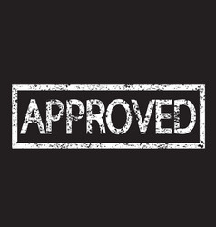 stamp approved text vector image