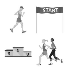 success and marathon logo vector image