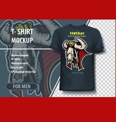 Template for t-shirts egyptian gods hathor vector