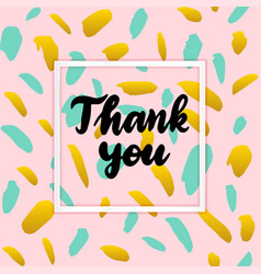 thank you lettering concept vector image