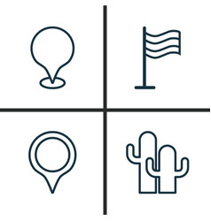 Travel icons set collection of pin map pointer vector