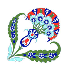 Turkish ornament decor ceramic tile oriental vector