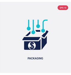Two color packaging icon from crowdfunding vector