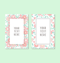 two different cards templates vector image